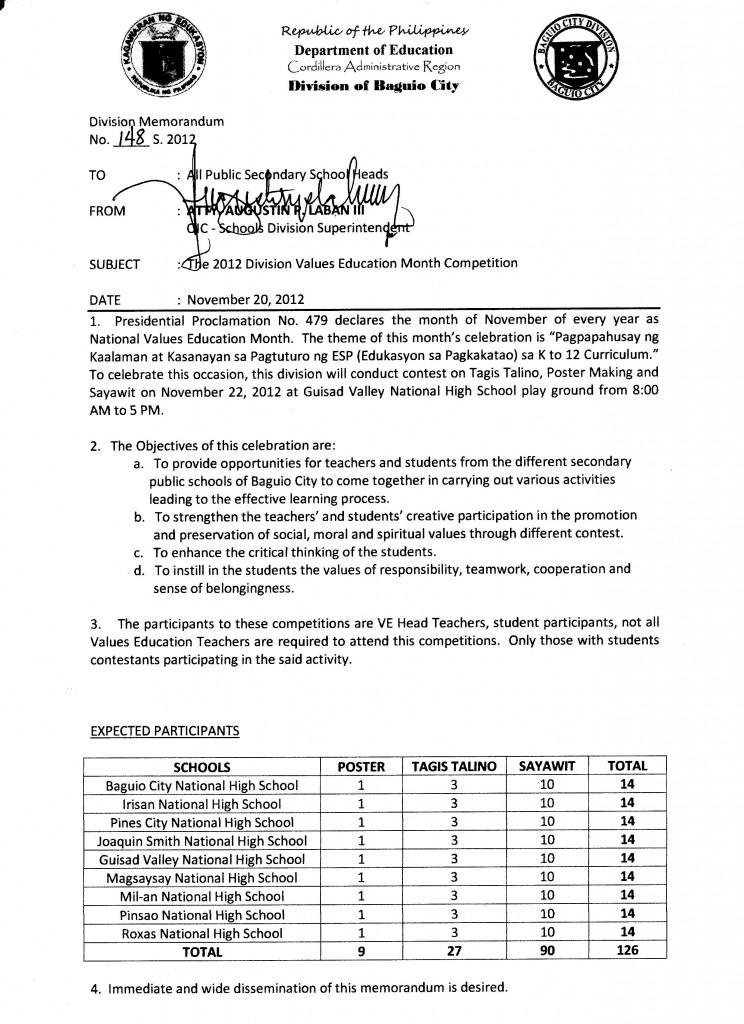 Division Memo 2017  Department of EducationSchools