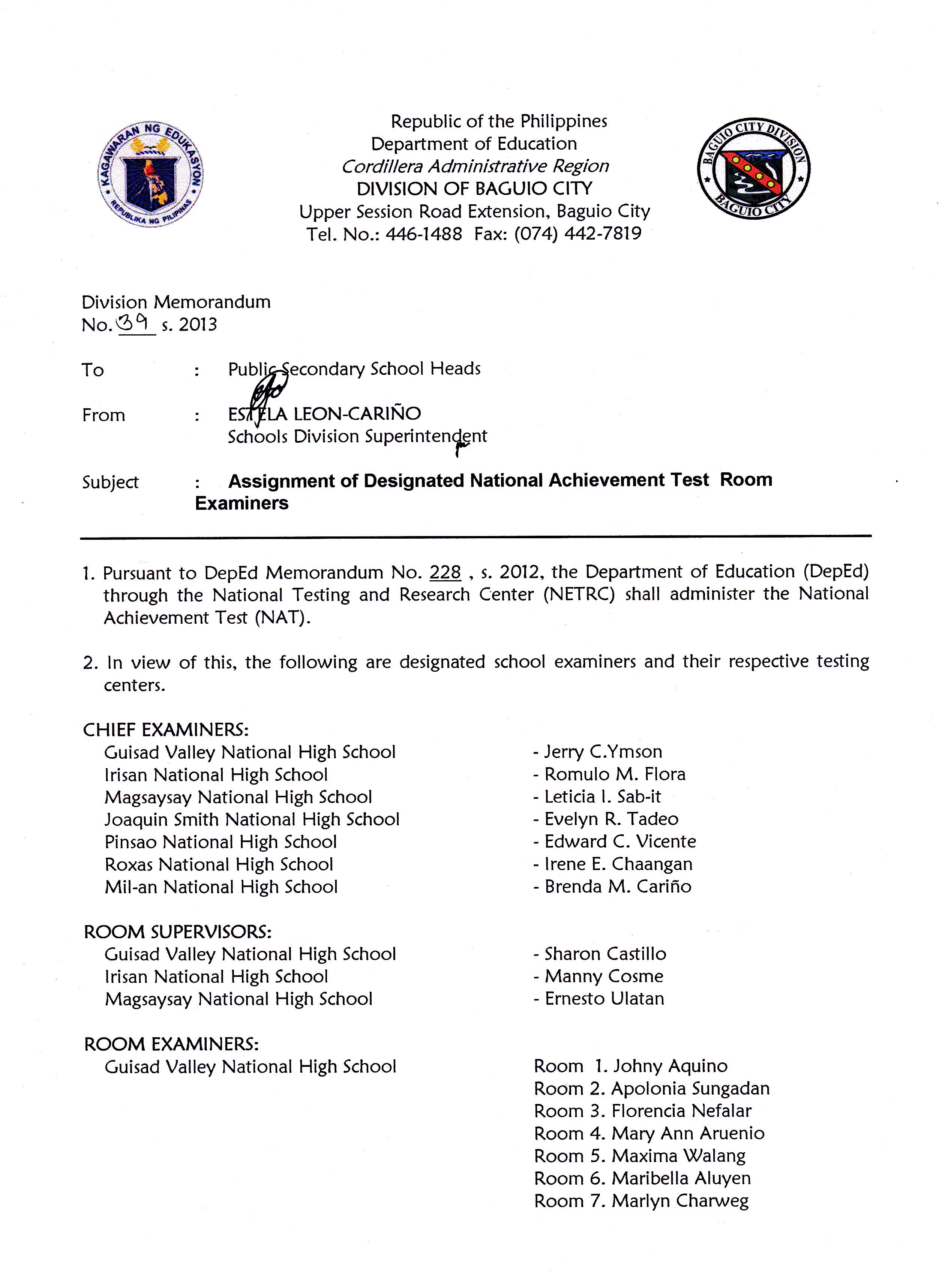 national achievement test 2014